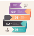 Business step options origami style vector | Price: 3 Credits (USD $3)