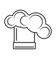 chef hat cooking professional design outline vector image