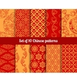 Chinese seamless patterns vector image vector image