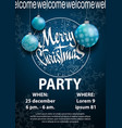 christmas 2018 party invitation card for your vector image
