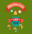 christmas sale shop now poster vector image