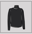 classic black turtleneck sweater oversize vector image vector image