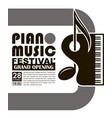 classical concert emblem vector image