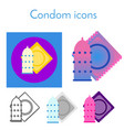 condom icon linear flat gradient and different vector image vector image