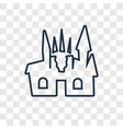 creepy castle concept linear icon isolated on vector image