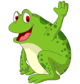 cute frog cartoon smiling vector image vector image