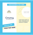 cutter company brochure template busienss template vector image vector image