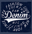 denim originals t-shirt design poster vector image vector image