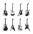 different rock electric guitars set vector image vector image