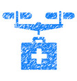 drug drone delivery grunge icon vector image vector image