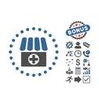 Drugstore Flat Icon With Bonus vector image