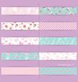 festive textile ribbons set vector image vector image