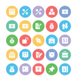 Finance Colored Icons 5 vector image vector image
