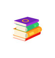 flat book pile or column vector image vector image