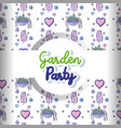 garden party pattern background vector image vector image