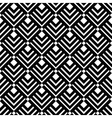 Geometric White Black Triangles Pattern vector image