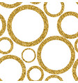 gold abstract seamless pattern with dots vector image