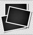 group retro realistic photo frames vector image