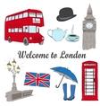 hand drawn London set vector image vector image