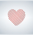 heart shaped zigzag happy valentine s day vector image vector image