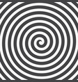 hypnotic spiral background vector image vector image