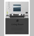 Interior design Modern living room banner 6 vector image vector image