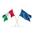 italy and european union waving flags vector image