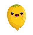 kawaii cute lemon citrus yellow icon vector image vector image