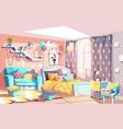 kid girl modern room interior vector image