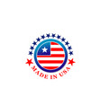 made in usa creative badge vector image vector image