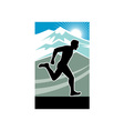 Marathon runner silhouette vector image vector image