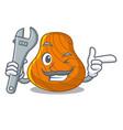 mechanic hard shell mascot cartoon vector image vector image