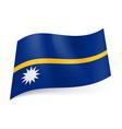national flag of nauru narrow horizontal gold vector image vector image