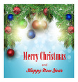 New year greeting card Blue background vector image