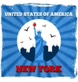 New York USA retro poster vector image vector image