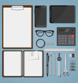 Office objects set vector image