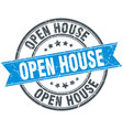 open house round grunge ribbon stamp vector image vector image