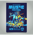 poster template for a music concert festival vector image vector image