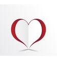 Red heart paper sticker vector image vector image