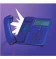 ringing telephone vector image vector image