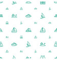 sea icons pattern seamless white background vector image vector image