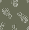 Seamless military pattern vector image vector image
