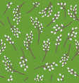 seamless pattern with branch of willow on vector image vector image
