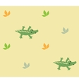Seamless pattern with funny crocodiles vector image vector image
