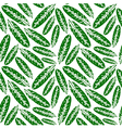 Seamless pattern with leaves imprints vector image vector image