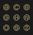 set of modern letter logo design vector image