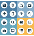 set of simple gadget icons vector image vector image