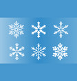 set of snowflake vector image vector image