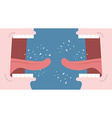 Shouting and swearing Quarrel between people Man vector image vector image