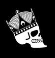 skull in crown head skeleton king death of vector image vector image